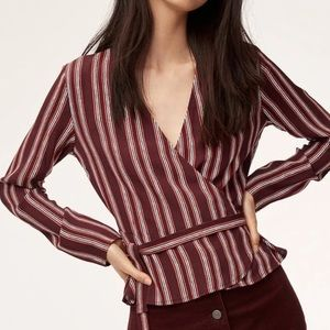Aritzia Wilfred Free Shannon Wrap Top Size XS